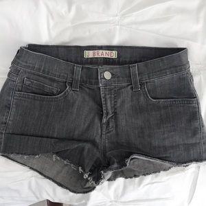 J brand grey denim shorts
